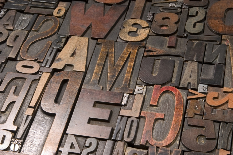 [image: wood block type]